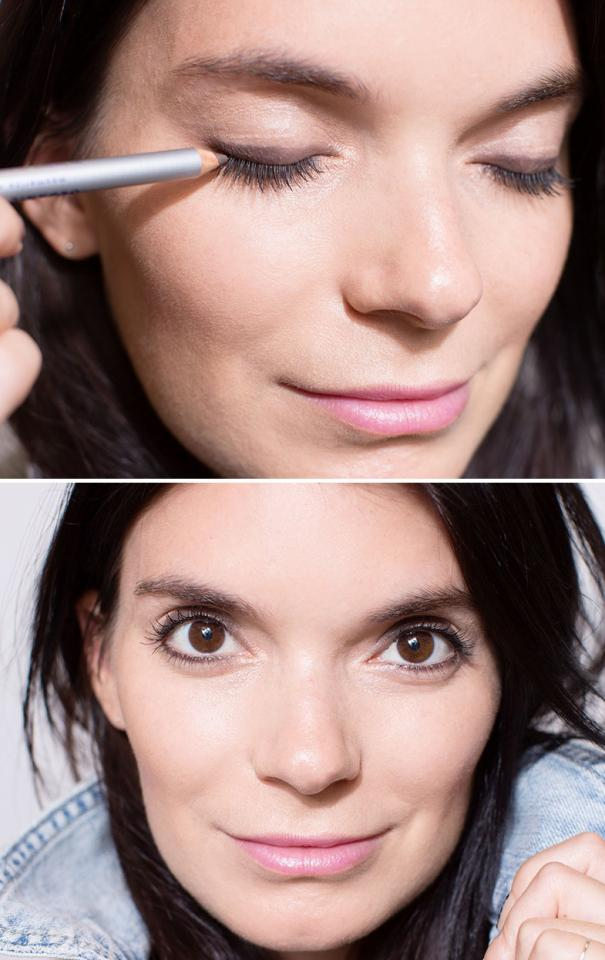 21. Use brown instead of black for a more universally flattering look. An ashy brown liner works on all eye colors and shapes, and is less harsh than black.
