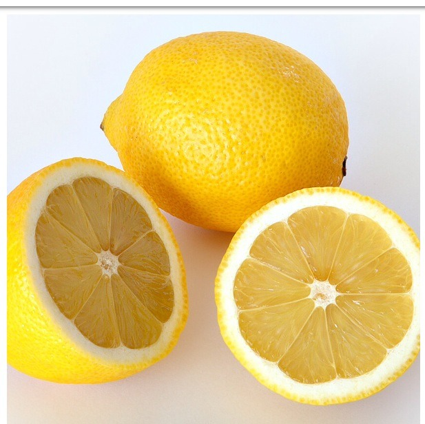 Lemon- is a good astringent that keeps your nails away from the yellowness/ dark color.