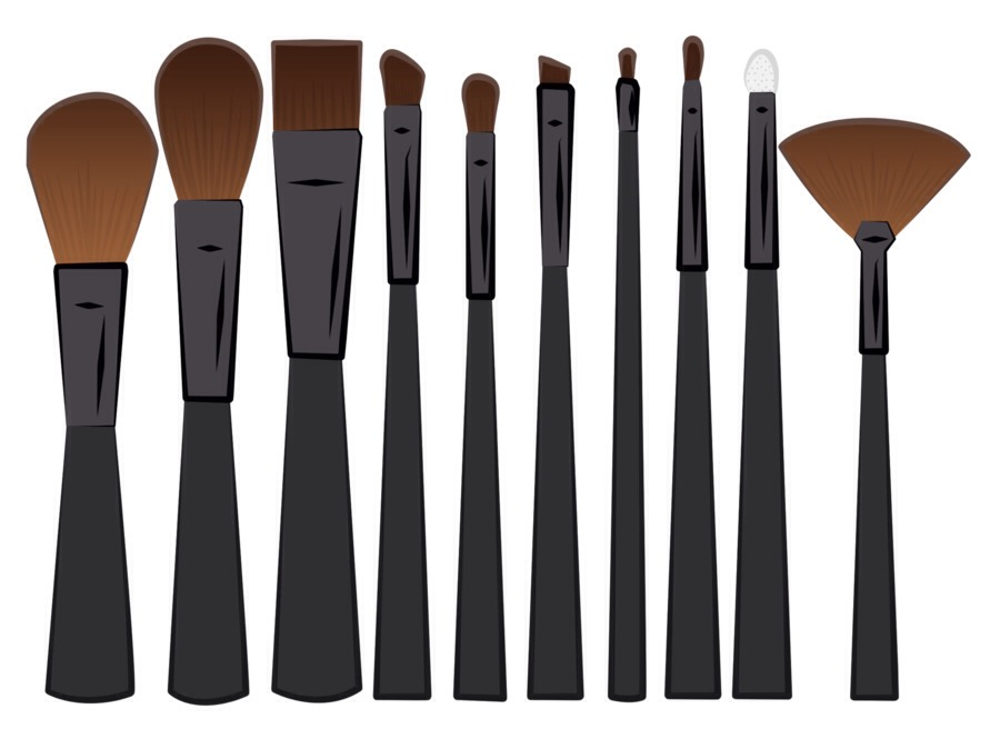 Makeup Brushes:  1. Rinse the bristles- but avoid the base of the brush. It can weaken the glue.  2. Work a small amount of shampoo on the bristles.  3. Mix a solution of water and vinegar and swoosh the brush in it. Rinse and let to out to dry.