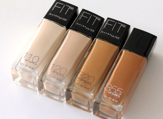 3. Maybelline fit me foundations Great, smooth coverage with a matte finish, my newest fav in the world of makeup:)))