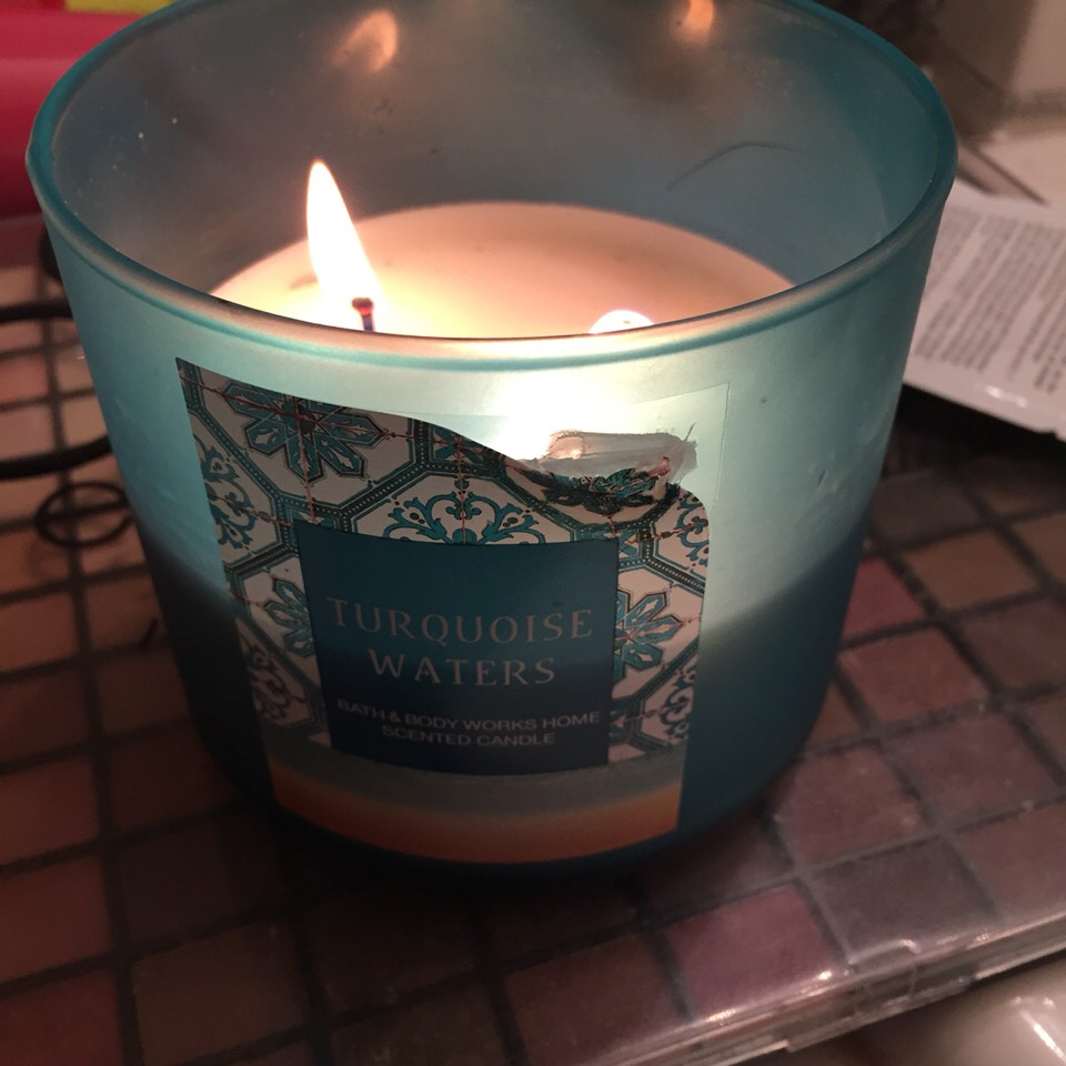 Lastly. Light your fav candle to fill up the room with a nice smelling fragrance. Gives a nice soft glow without any lights on.