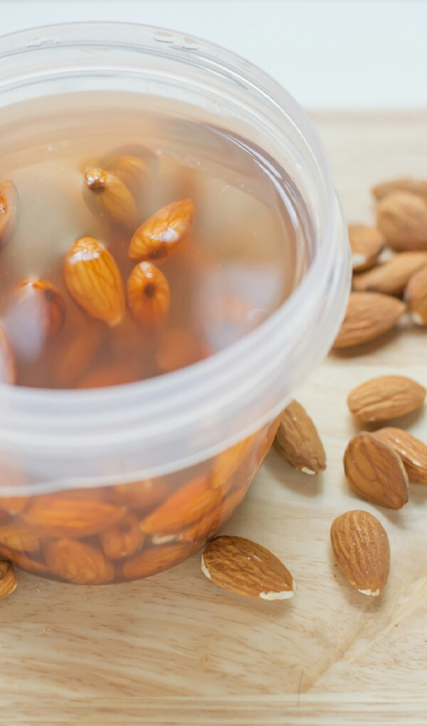 INSTRUCTIONS  Soak the almonds in water overnight.Drain, rinse and peel the almonds.