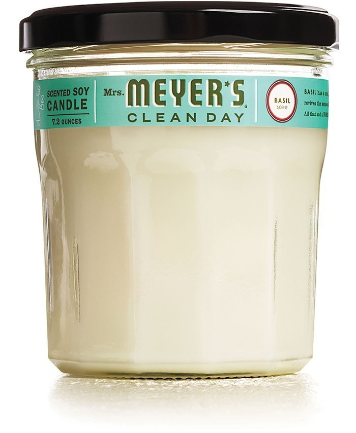 Mrs. Meyer's clean day scented soy candle. Eliminate kitchen odors with this fresh scent. Tip: If you have a bit of fragrance ADD, order it in a petite container to try different scents throughout the home.