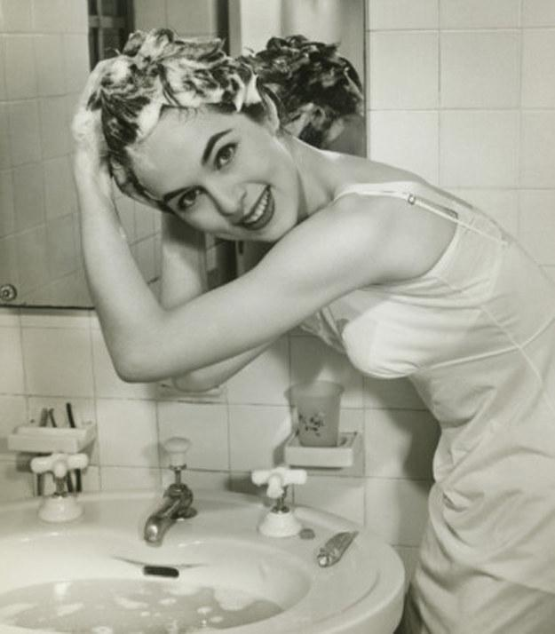 43. If you really can't shower, just wash your roots in the sink.