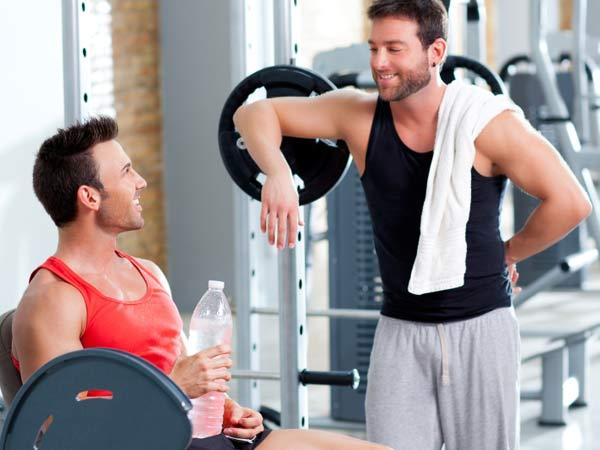3. Catching up with a friend? Move off the equipment so others can use it.