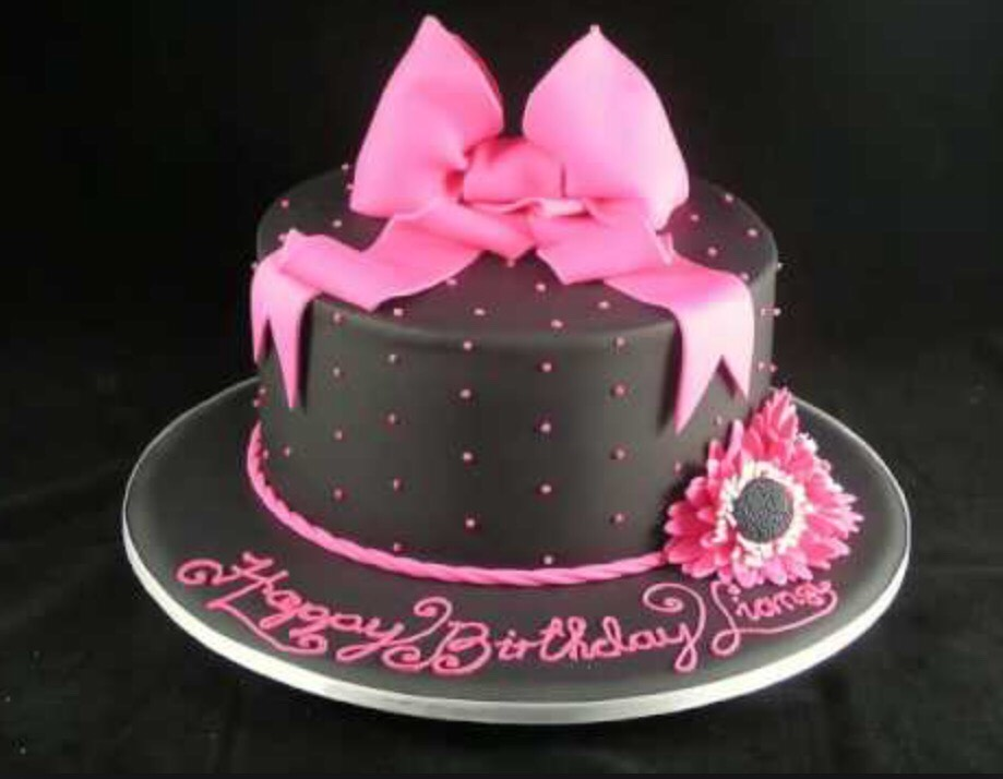 Sophisticated girly cake