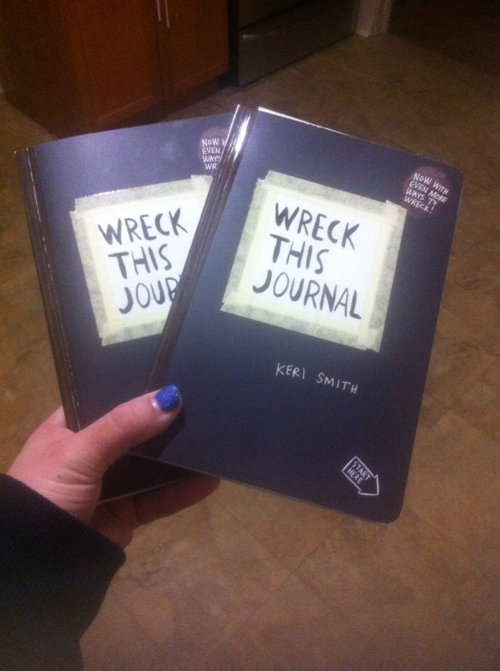 Mine and my goddaughters. Can't wait to do this project with her. Google wreck this journal images to see examples of how to wreck the journal.
