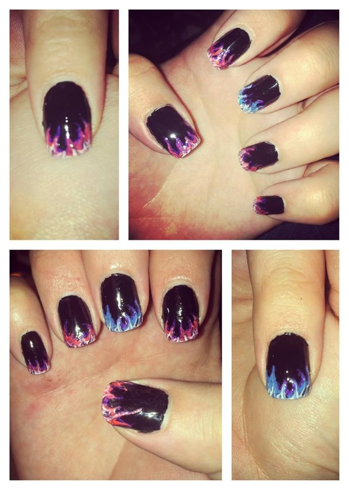 Nail art done by moi! 😊
