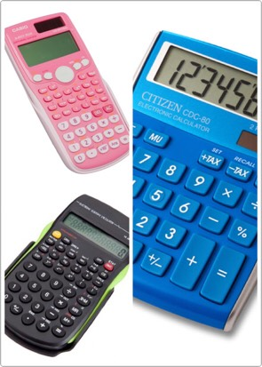 6. Calculator  You will definitely need a calculator for math class. Some math classes will require different calculators. For example: I needed a pretty simple calculator for algebra but I needed an expensive graphing calculator for geometry. Get the one that works best with what class you're in.