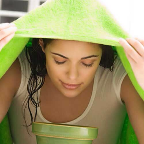 2) Facial Steam:  Expose your facial skin to some steam either by leaning over a hot water bowl or by a steam machine at least for 10 minutes in-order to open pores. Use of eucalyptus oil drops can avoid any cause of infections.