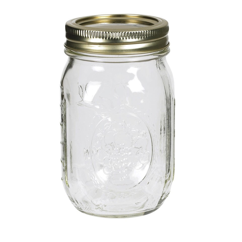 Take your Mason jar and take the lid off.