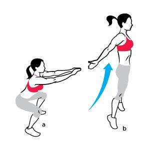 30 sec jump squats