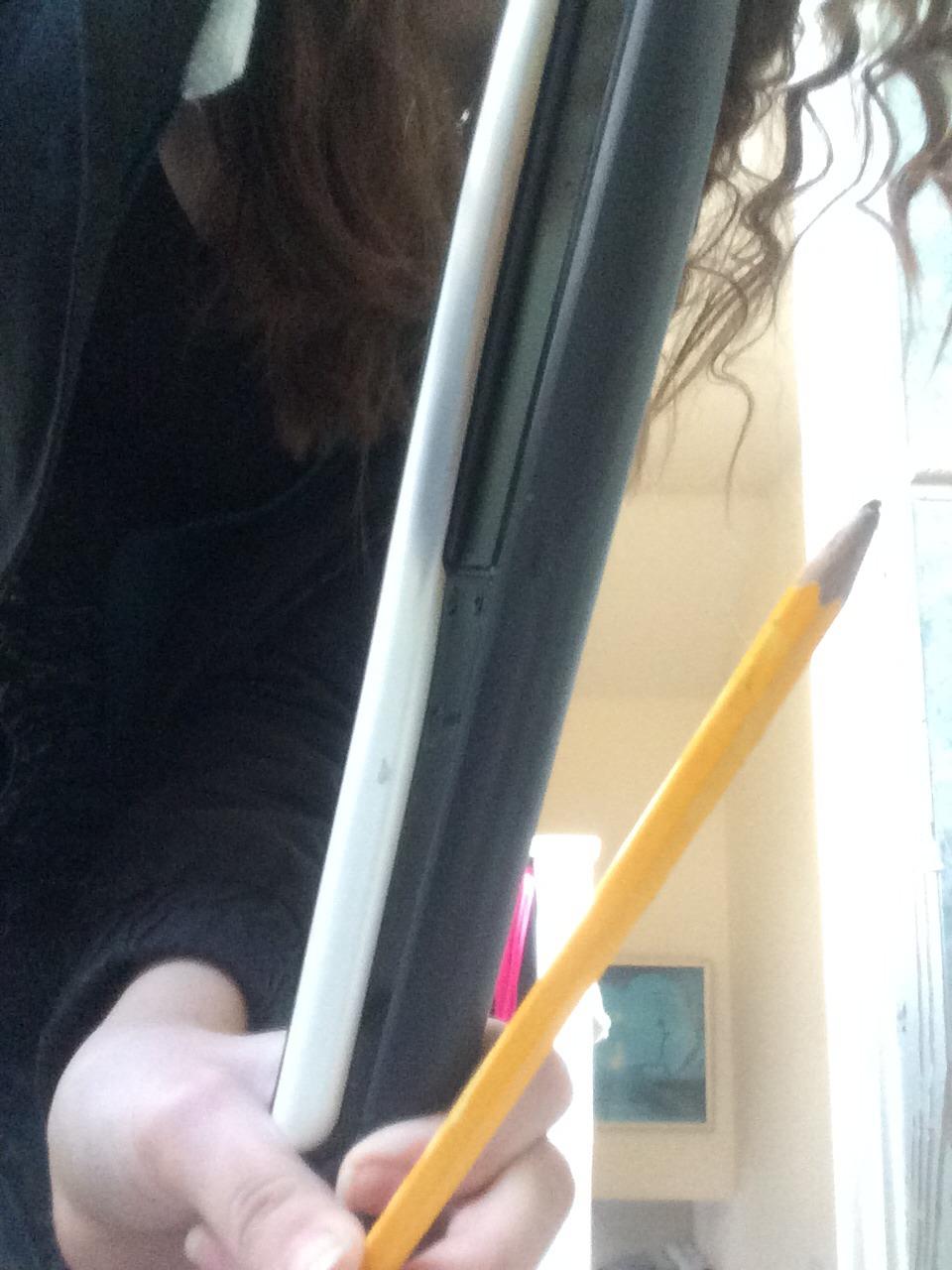 Things needed -Pencil -Hair straighteners