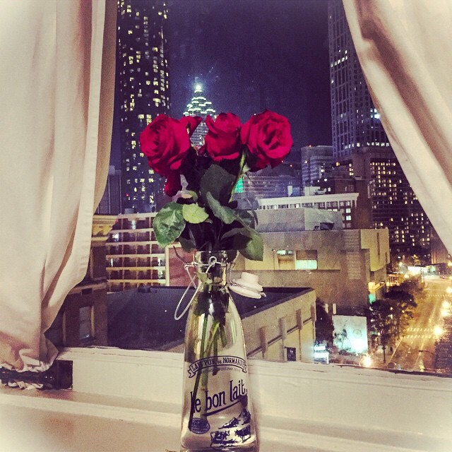 3. Buy yourself (or have someone to buy you) flowers! 🌹 (Pictured: downtown Atlanta)