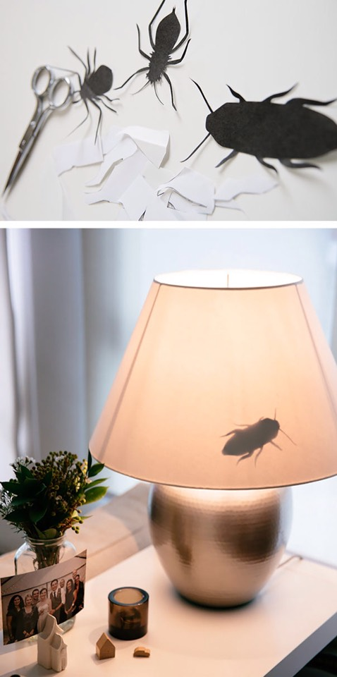 Bug in a lamp