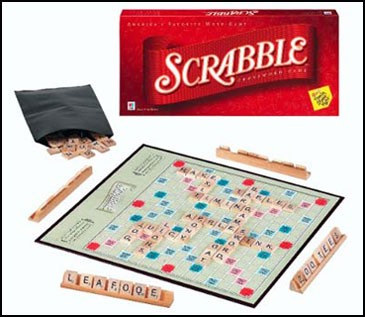 4.) scrabble I love this game, it's so much fun!
