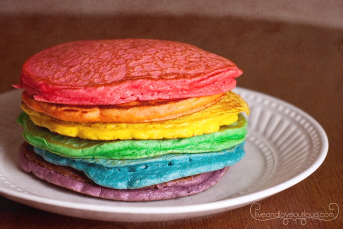 Colorful pancakes