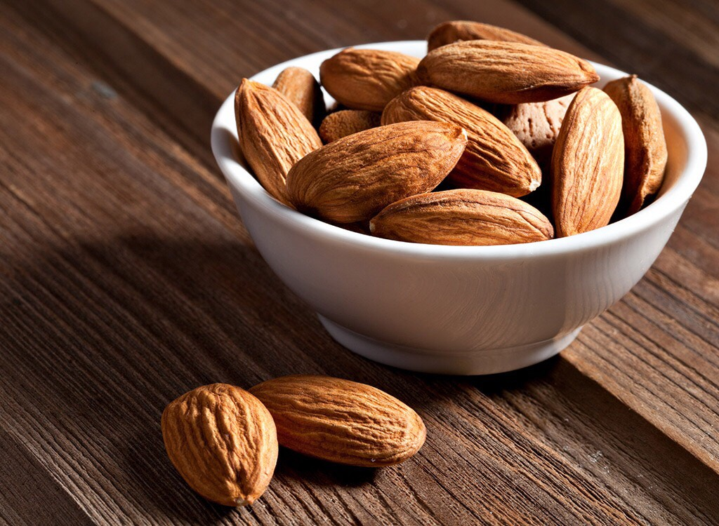 almonds help a person in burning away belly fat as well as preventing heart disease