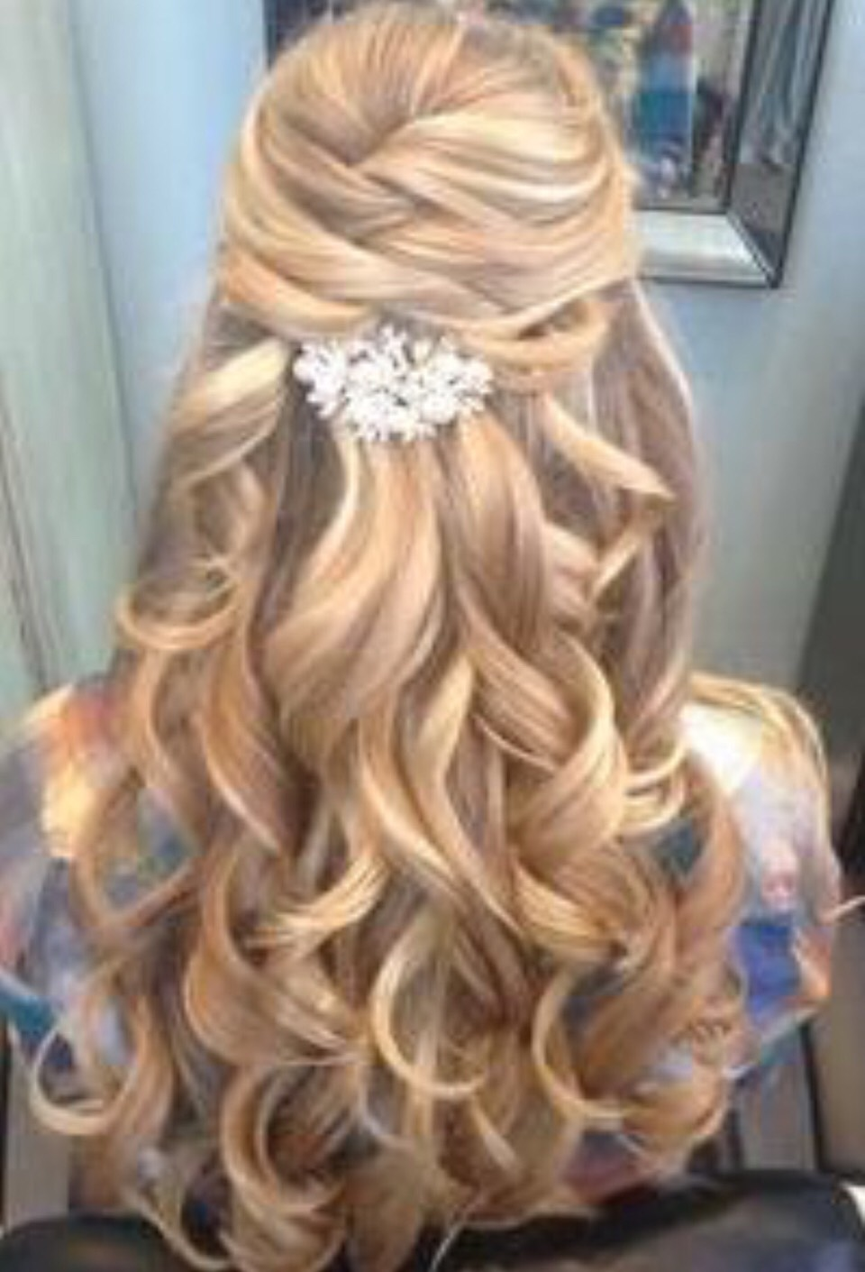 Simple but pretty hair style 🌸❤️😍