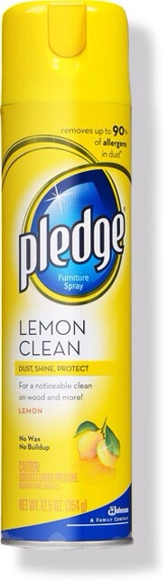 -> Lemon Pledge Furniture Spray -> By spraying the front and back entrances to the house, window sills, and baseboards with Lemon Pledge -> Apparently spiders are repelled by the scent of lemon