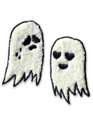 Ghost Sew On Patch Pair Have you been dying to do a little DIY project? Grab your favorite denim jacket and sew these little guys onto them. Spooky? Yes. Cute? Double yes. Buy it at Sara M Lyons for $12