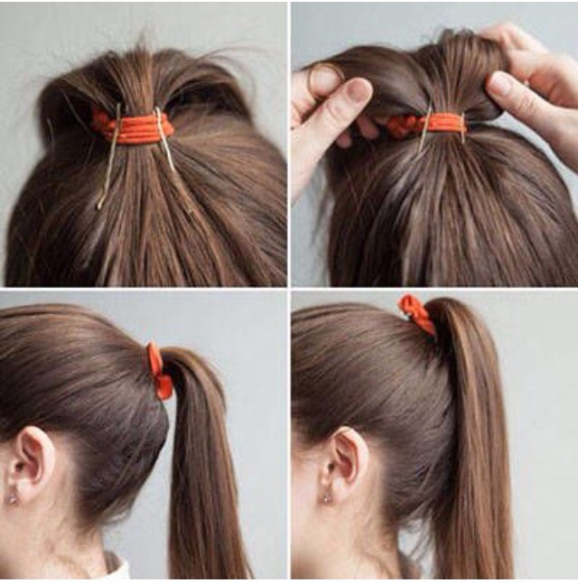 Put bobby pins in your ponytail to give the extra oomph