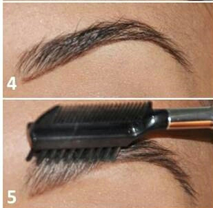 Next, with your eyebrow product you will want to draw a line underneath the brow and comb it again. This makes sure you get the right shape.