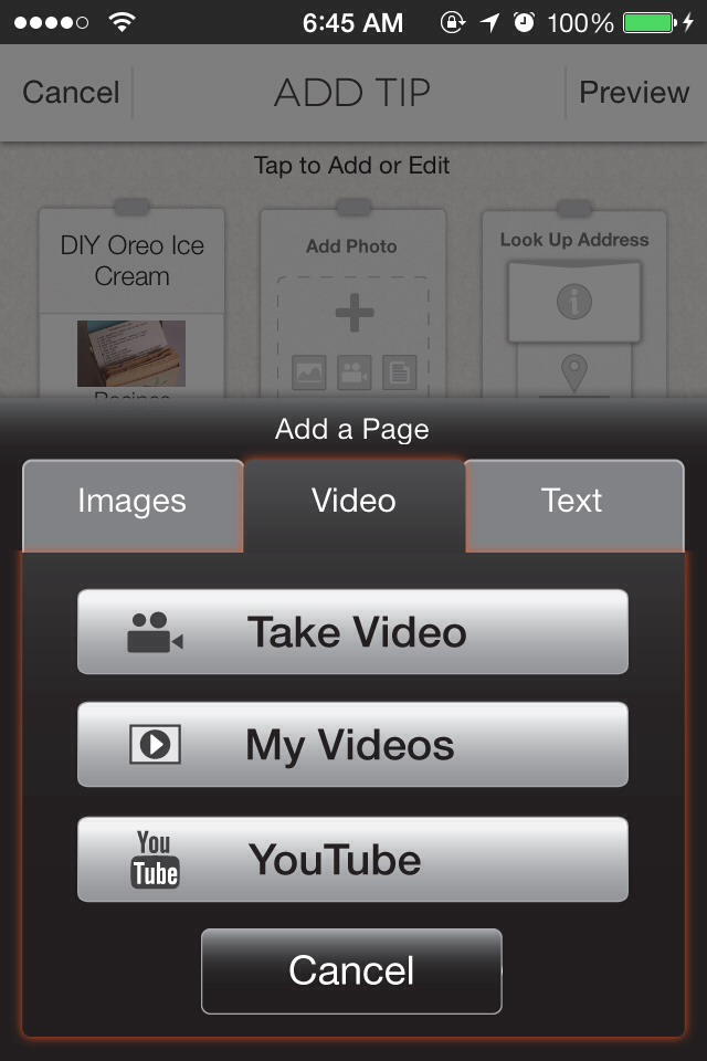 Then click on the video tab and YouTube.
