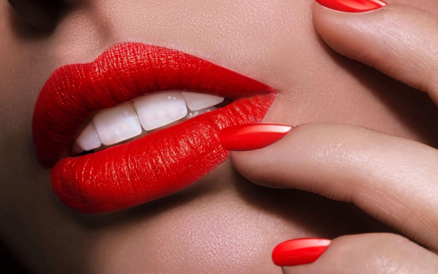 Apply red lipstick