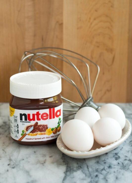 Ingredients: 1 Cup of Nutella 4 Eggs