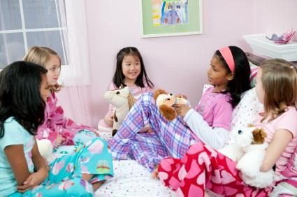 Have a sleepover with friends