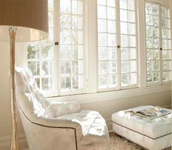 Reading Nook Carve out a quiet moment in your living room to entice a little reading time. Drag a cozy chair over to a window or next to a bookshelf and be sure to provide ample light for late-night page turning.