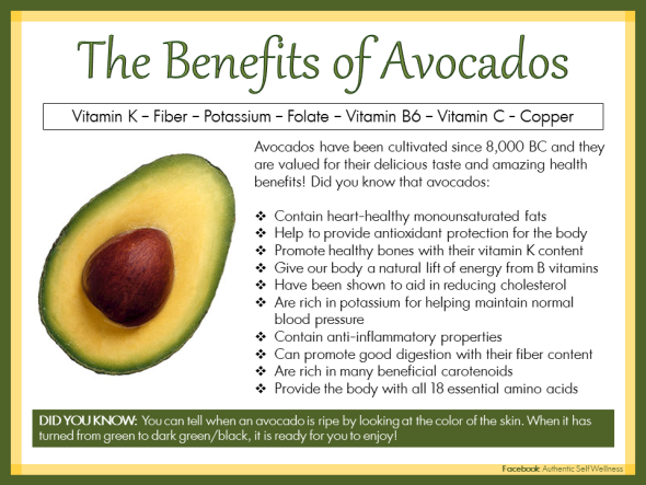 The benefits of avocado!