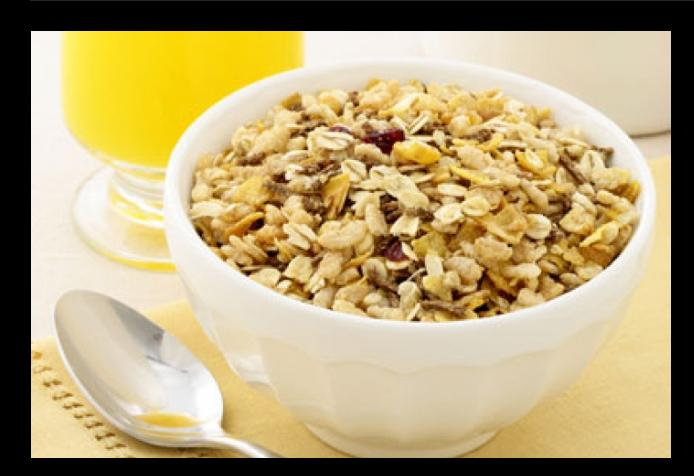3. GRANOLA! For most (but not all), a teeny tiny amount of granola will give you a wallop of trans fats and sugar – both have been shown to increase the risk of heart attack and stroke – and calories. Plus, the portions are so small that we tend not to be satisfied with the initial bowl.