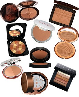 Bronzer is great if you want a subtle tan look. Apply bronzer to the hollows of your cheeks and your forehead. But you can apply it all over your face if you want a tanner look.