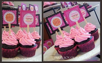 cupcake themed baby girl shower…