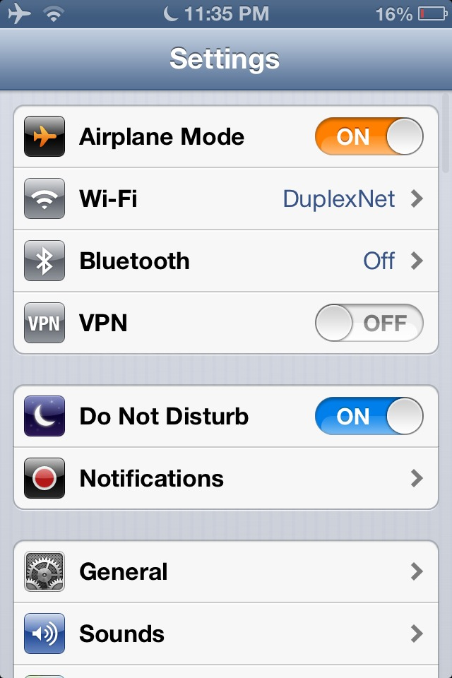 Turn on airplane mode when you charge your iPod or iPhone so it will charge faster.