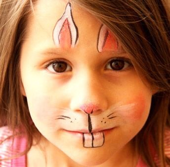 Paint your kids faces! You can paint it as a bunny, a chick, an Easter egg, etc.