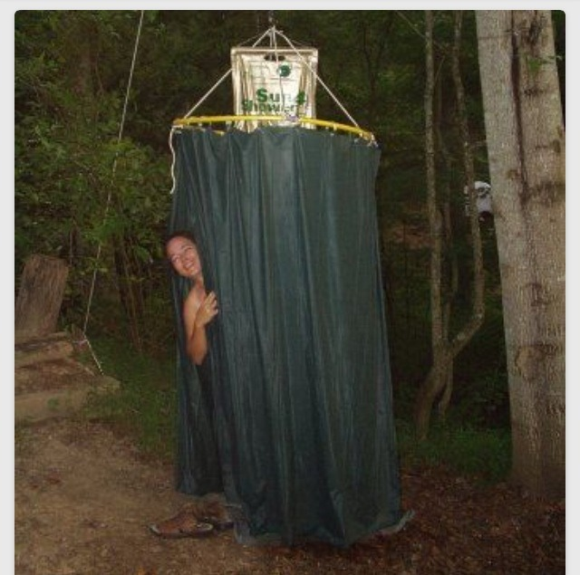 Cool Idea Make A Shower Enclosure For Camping Out Of A