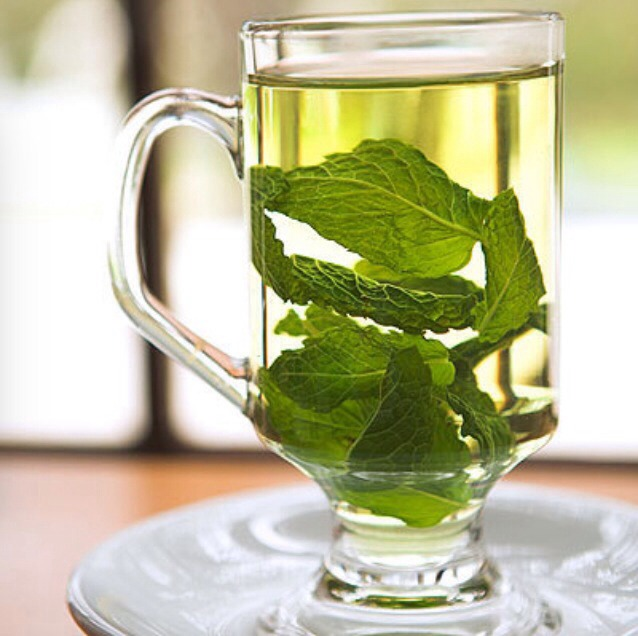 2. Mint Tea  - Wards off the munchies