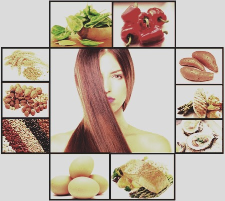 Healthy food healthy hair it is true what you eat can make a difference with how long it grows cause for you don't get the right oils then your hair won't either