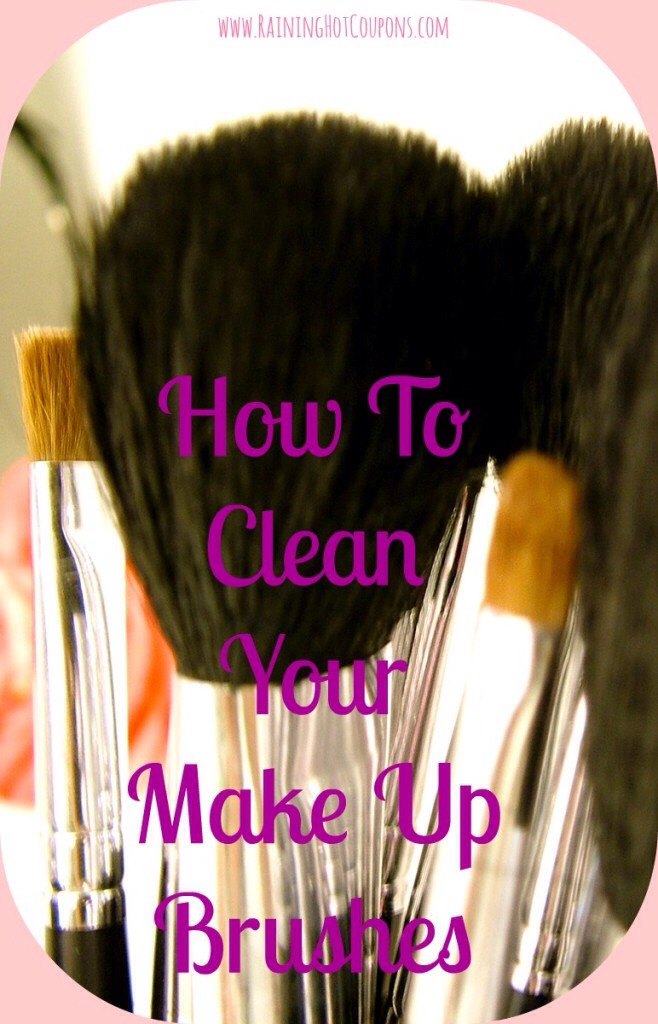 Here's what to do: In a small bowl, mix 1/2 cup warm water and 1/4 cup vinegar.  Gently stir the bushes in the water and vinegar mixture.  Gently rinse the brushes under running water.  Lay the brushes on a clean towel to dry over night. They'll look and feel like new the next time you use them!