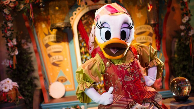 Daisy Duck Can be found at Pete's Silly Sideshow in Fantasyland.
