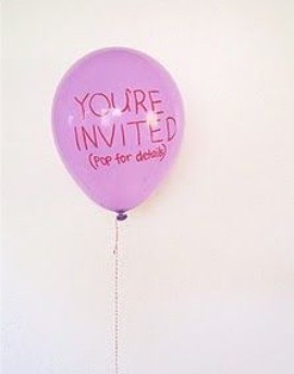 Balloon Party invites!! Add sparkles/confetti and the details to the event in the balloon!