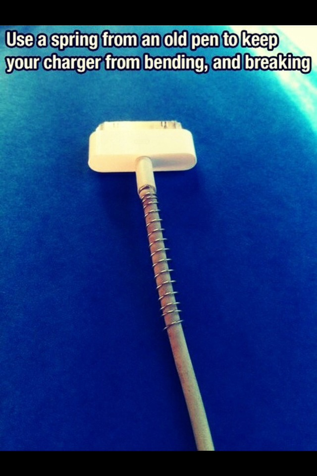Easy way to save your iphone chargers a bit longer then usual
