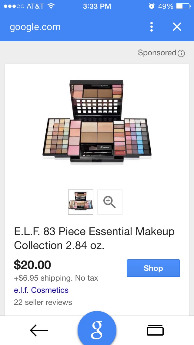 https://www.google.com/shopping/product/13654390945115085704?aqs=iphoneapp2.1.41l4.2981jjjjjjjj4jjjjjjj35&ech=79&q=elf+makeup+kit&ctzn=America/New_York&biw=320&oq=elf+makeup+kit&rlz=1MDAPLA_enUS620US620&hl=en&apps=ma&channel=iss&pbx=1&client=mobilesearchapp&v=5.1.42378&tch=6&qscrl=1&noj=1&ion=0&ie=U