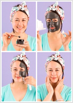 Applywith thespatula provided+ let the mask sitfor 5-10mins.Toremovewrap the magnet in tissue +glide it along your face.It's nuts to watch it just lift right off your skin. Once you get all of the mask removed, gently rub the remaining serum into your skin for that polished, radiant glow.