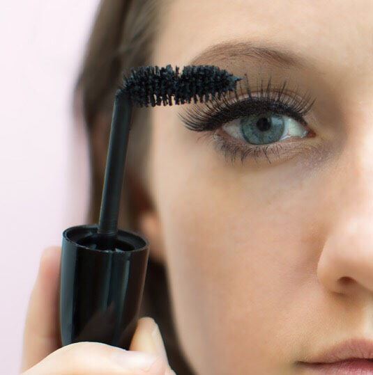 for those little lashes in the corners you can bend your mascara wand and get them coated easier! and the brush will bend back to normal shape easily.