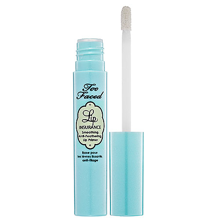 No bleeding, creasing or feathering will happen wen u start ur lip color off  with this primer from too faced. Too faced lip insurance primer, $19,  sephora.com