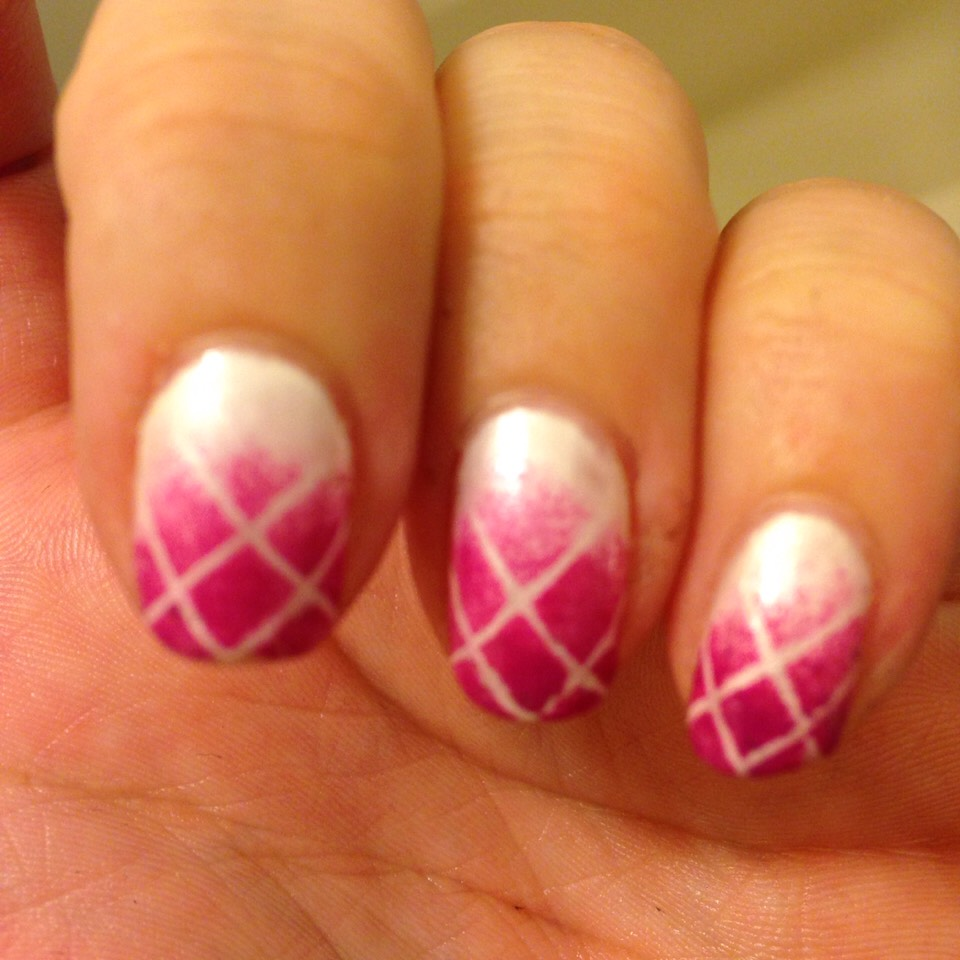 Fading pink plaid